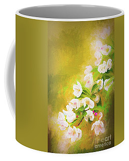 Painted Crabapple Blossoms In The Golden Evening Light Coffee Mug