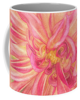 Painted Dahlia Coffee Mug by Kim Andelkovic