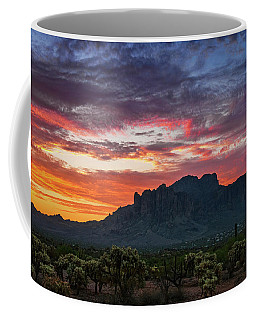 Coffee Mug featuring the photograph Painted Desert Skies Over The Supes  by Saija Lehtonen
