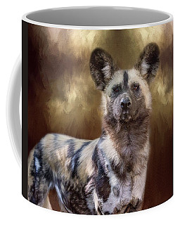Painted Dog Portrait II Coffee Mug