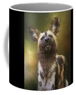Painted Dog Portrait Coffee Mug