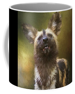 Painted Dog Portrait Coffee Mug