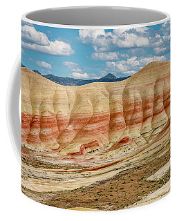 Coffee Mug featuring the photograph Painted Hills And Afternoon Sky by Greg Nyquist