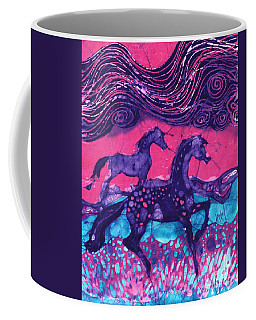 Painted Horses Below The Wind Coffee Mug