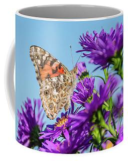 Painted Lady Blue Sky Coffee Mug