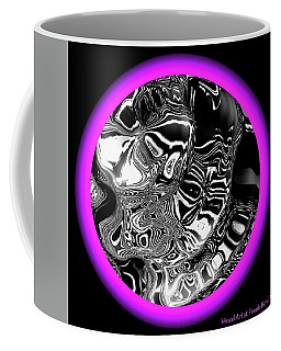 Coffee Mug featuring the digital art Painted Lady And Son by Visual Artist Frank Bonilla