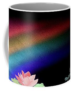 Painted Lotus Under Rainbow Coffee Mug