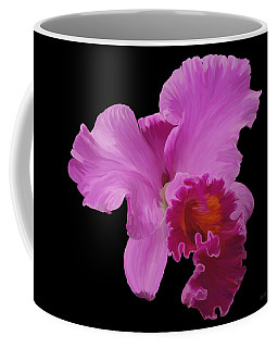 Coffee Mug featuring the photograph Painted Orchid by Phyllis Denton