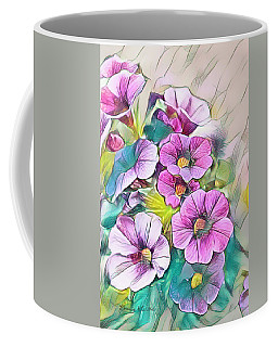 Painted Petunia Coffee Mug
