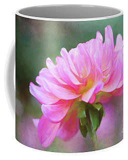 Painted Pink Dahlia Coffee Mug