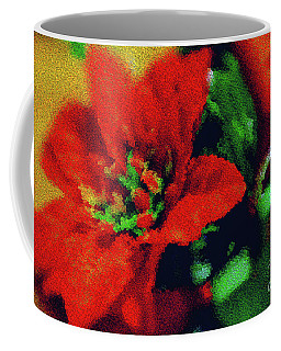 Coffee Mug featuring the photograph Painted Poinsettia by Sandy Moulder