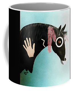 Painted Pony With Feather Coffee Mug