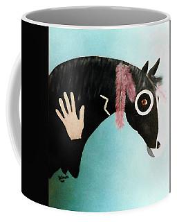 Painted Pony With Feather Coffee Mug