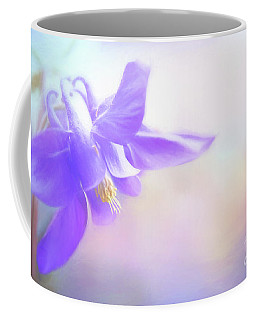 Painted Purple Columbine Coffee Mug