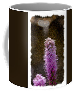Painted Purple Flower Coffee Mug