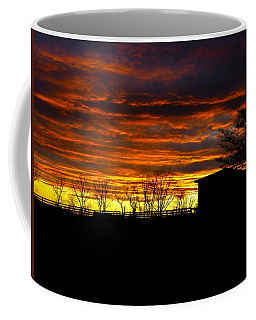 Coffee Mug featuring the photograph Painted Sky After The Storm by Donald C Morgan