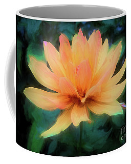 Painted Tangerine Dahlia Coffee Mug