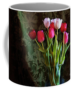 Coffee Mug featuring the photograph Painted Tulips by Joan Bertucci