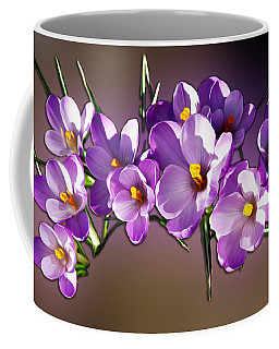 Coffee Mug featuring the photograph Painted Violets by John Haldane