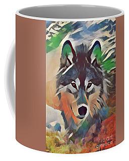 Painted Wolf Coffee Mug