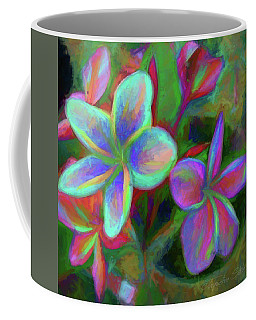 Painterly Frangipanis Coffee Mug