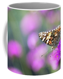 Coffee Mug featuring the photograph Painterly Painted Lady 2 by Brian Hale