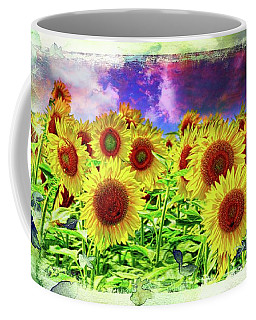 Painterly Sunflowers Coffee Mug