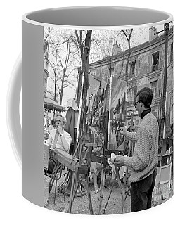 Painters In Montmartre, Paris, 1977 Coffee Mug