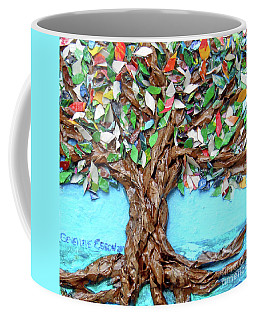 Painters Palette Of Tree Colors Coffee Mug by Genevieve Esson