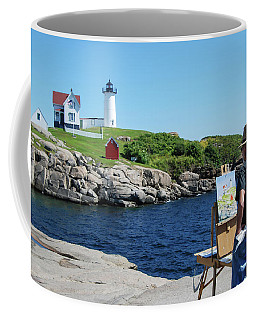 Painting Nubble Lighthouse Coffee Mug