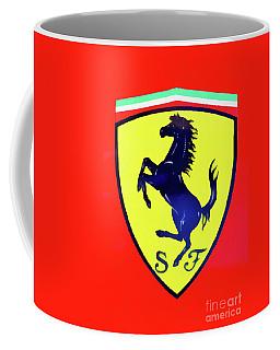 Painting Of Ferrari Badge Coffee Mug