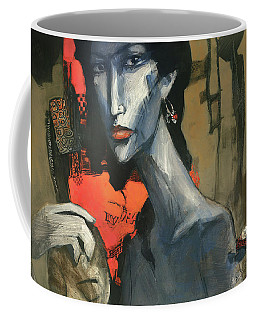 Painting Of The Lady _ 1 Coffee Mug by Behzad Sohrabi