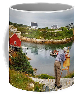 Painting Peggys Cove Coffee Mug