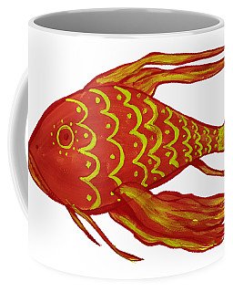 Painting Red Fish Coffee Mug