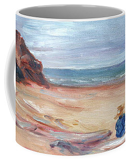 Painting The Coast - Scenic Landscape With Figure Coffee Mug