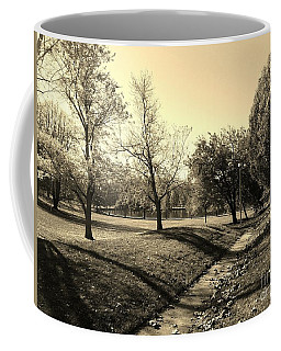 Painting With Shadows - Sepia Coffee Mug