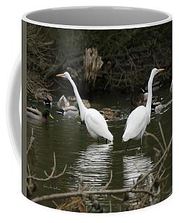 Pair Of Egrets Coffee Mug