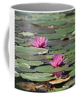 Pair Of Pink Pond Lilies Coffee Mug