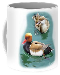 Pair Of Red-crested Pochards Coffee Mug