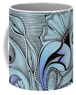 Coffee Mug featuring the drawing Paisley Power by Jan Steinle