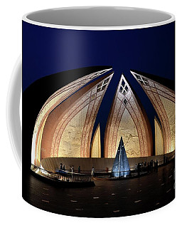 Pakistan Monument Illuminated At Night Islamabad Pakistan Coffee Mug
