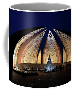 Pakistan Monument Illuminated At Night Islamabad Pakistan Coffee Mug