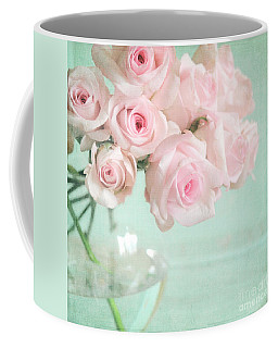 Pale Pink Roses Coffee Mug by Lyn Randle