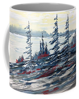 Pale Sky Over The Lake - Pour Michel Coffee Mug