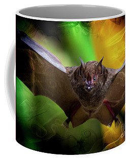 Coffee Mug featuring the photograph Pale Spear-nosed Bat In The Amazon Jungle by Al Bourassa