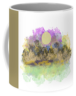 Pale Yellow Moon Coffee Mug by Jessica Wright