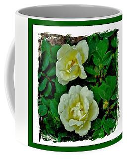 Pale Yellow Roses Coffee Mug by Marsha Heiken