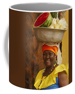 Palenquera In Cartagena Colombia Coffee Mug by David Smith