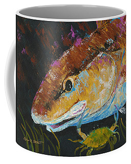Pallet Knife Redfish And Blue Crab Coffee Mug
