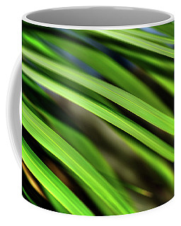 Coffee Mug featuring the photograph Palm Abstract By Kaye Menner by Kaye Menner